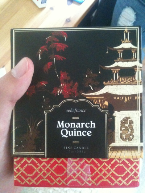 Monarch Quince Jardins du Seda France Boxed Candle